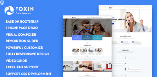 Foxin v1.1 - Responsive Business WordPress Theme