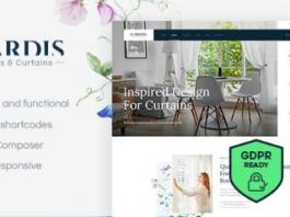Gardis v1.2.2 Blinds and Curtains Studio & Shop WordPress Theme