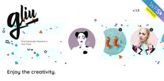 Gliu v2.1 - Enjoy The Creativity WP Theme