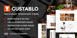 Gustablo v1.10   Restaurant & Cafe Responsive WordPress Theme