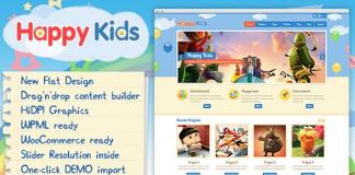 Happy Kids - Children WordPress Theme v3.5.2 Nulled