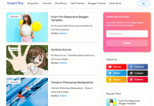 Invert Pro Responsive Blogger Template v2.0