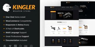 Kingler v1.7   Weapon Store & Gun Training WP Theme