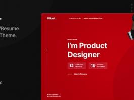 Mikael v1.0.1 - Modern & Creative CV/Resume WordPress Theme