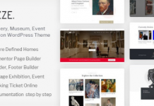 Muzze v1.2.7 - Museum Art Gallery Exhibition WordPress Theme