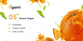 Ogami v1.25 - Organic Store & Bakery WordPress Theme