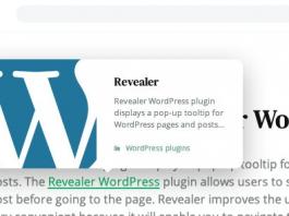 Revealer v2.0.2 - Navigation Popup for WordPress Links