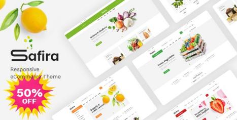 Safira v1.0.2 - Food & Organic WooCommerce WordPress Theme