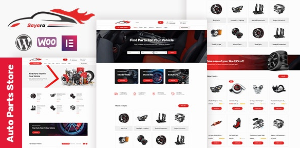 Sayara v1.0.8 - Auto Parts Store WooCommerce WordPress Theme