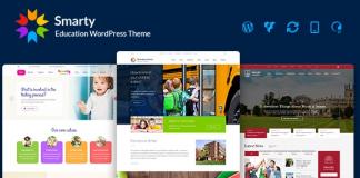 Smarty v3.4.2 - Kindergarten, School, High school, College, University WordPress theme