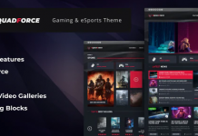 SquadForce v1.1.5 - eSports Gaming WordPress Theme (formerly Good Games)