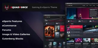 SquadForce v1.1.5 - eSports Gaming WordPress Theme (formerly Good Games)