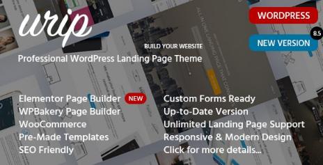 Urip v8.4.4 - Marketing Landing Page WordPress Theme