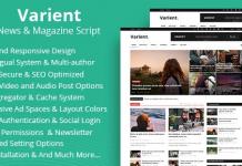 Varient v1.8 - News & Magazine Script