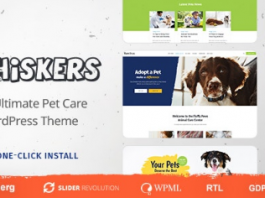 Whiskers v1.0.6 - Pets Store | Vet Clinic | Animal Adoption
