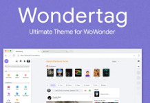 Wondertag v1.1 - The Ultimate WoWonder Theme