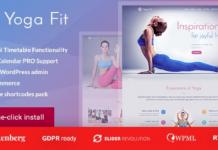 Yoga Fit v1.2.8 - Sports, Fitness & Gym WordPress Theme