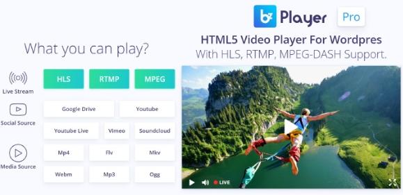 bzplayer Pro v2.1 - Live Streaming Player WordPress Plugin