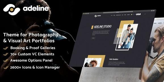 Adeline v1.0.0 - Photography Portfolio Theme