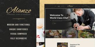 Alanzo v1.0.4   Personal Chef & Catering WordPress Theme