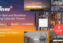 Bellevue v3.2.11 | Hotel + Bed and Breakfast Booking Calendar Theme