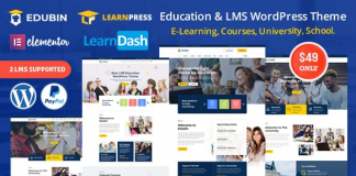 Edubin - Education LMS WordPress Theme v6.6.0