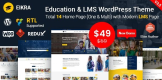 Eikra Education v4.1 - Education WordPress Theme