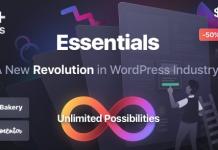 Essentials v1.1.2 | Multipurpose WordPress Theme Nulled