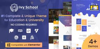 Ivy School v1.3.6 – Education, University & School WordPress Theme
