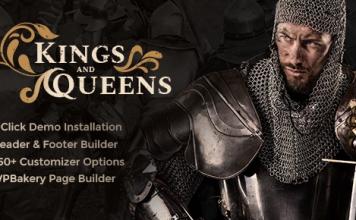 Kings & Queens v1.1.5   Historical Reenactment WordPress Theme