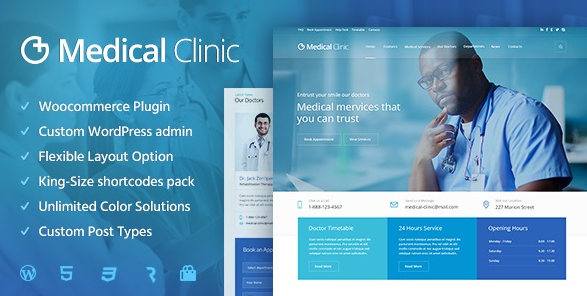 Medical Clinic v1.2.0 - Health & Doctor Medical WordPress Theme