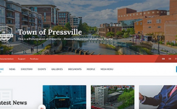 Pressville v2.5.0 - Unique WordPress Theme for Municipalities
