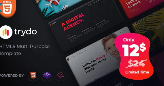 Trydo v1.0.0 - Creative Agency & Portfolio WordPress Theme
