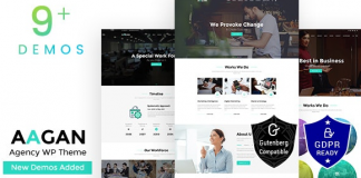 Aagan v2.6 - Startup Business Agency WordPress Theme