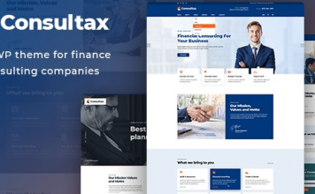 Consultax v1.0.8 - Financial & Consulting WordPress Theme