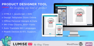 Lumise Product Designer | WooCommerce WordPress v1.9.7