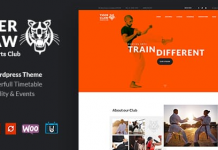 Tiger Claw v1.1.2 | Martial Arts School and Fitness Center WordPress Theme