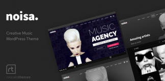 Noisa v2.5.5 - Music Producers, Bands & Events Theme for WordPress