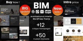 BIM v1.0.8 - Architecture & Interior Design Elementor WordPress Theme