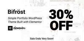 Bifrost v2.1.6 - Simple Portfolio WordPress Theme
