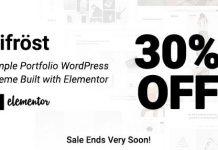 Bifrost v2.1.8 - Simple Portfolio WordPress Theme