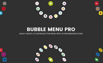 Bubble Menu Pro v2.0 - Creating Awesome Circle Menu With Icons