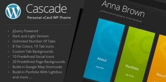 Cascade v8.1 - Personal vCard WordPress Theme