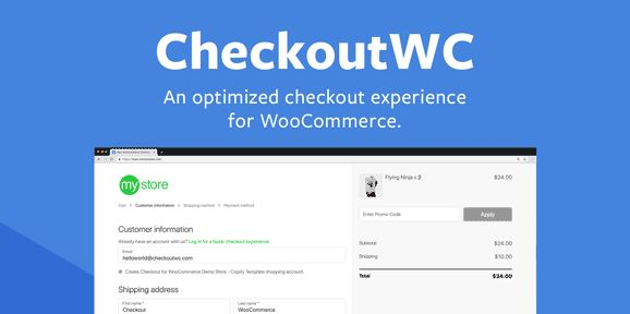 CheckoutWC v2.39.2 - Optimized Checkout Page for WooCommerce