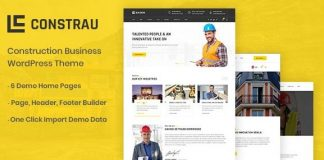Constrau v1.1.6 - Construction Business WordPress Theme