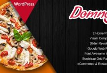 Domnoo v1.26 - Pizza & Restaurant WordPress Theme