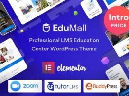 EduMall v2.0.0 - Professional LMS Education Center WordPress Theme