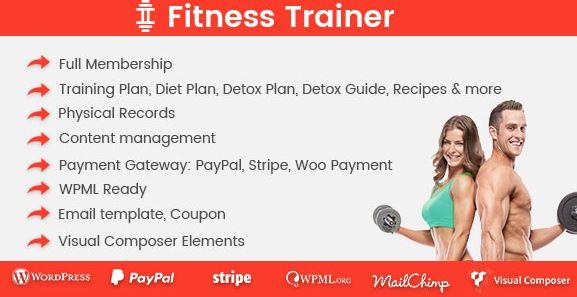 Fitness Trainer v1.5.5 - Training Membership Plugin