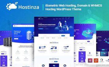 Hostinza v2.6.0 - Isometric Domain & Whmcs Web Hosting WordPress Theme