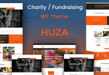 Huza v1.19 - Charity/Fundraising Responsive WordPress Theme
